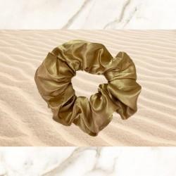 Golden Satin Scrunchie