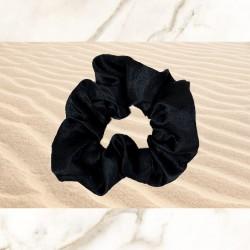 Black Satin Scrunchie